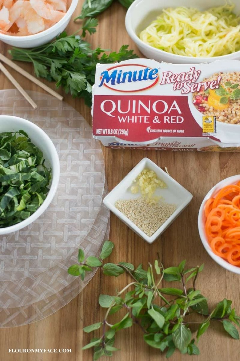 Shrimp Fresh Spring Roll Ingredients #ad