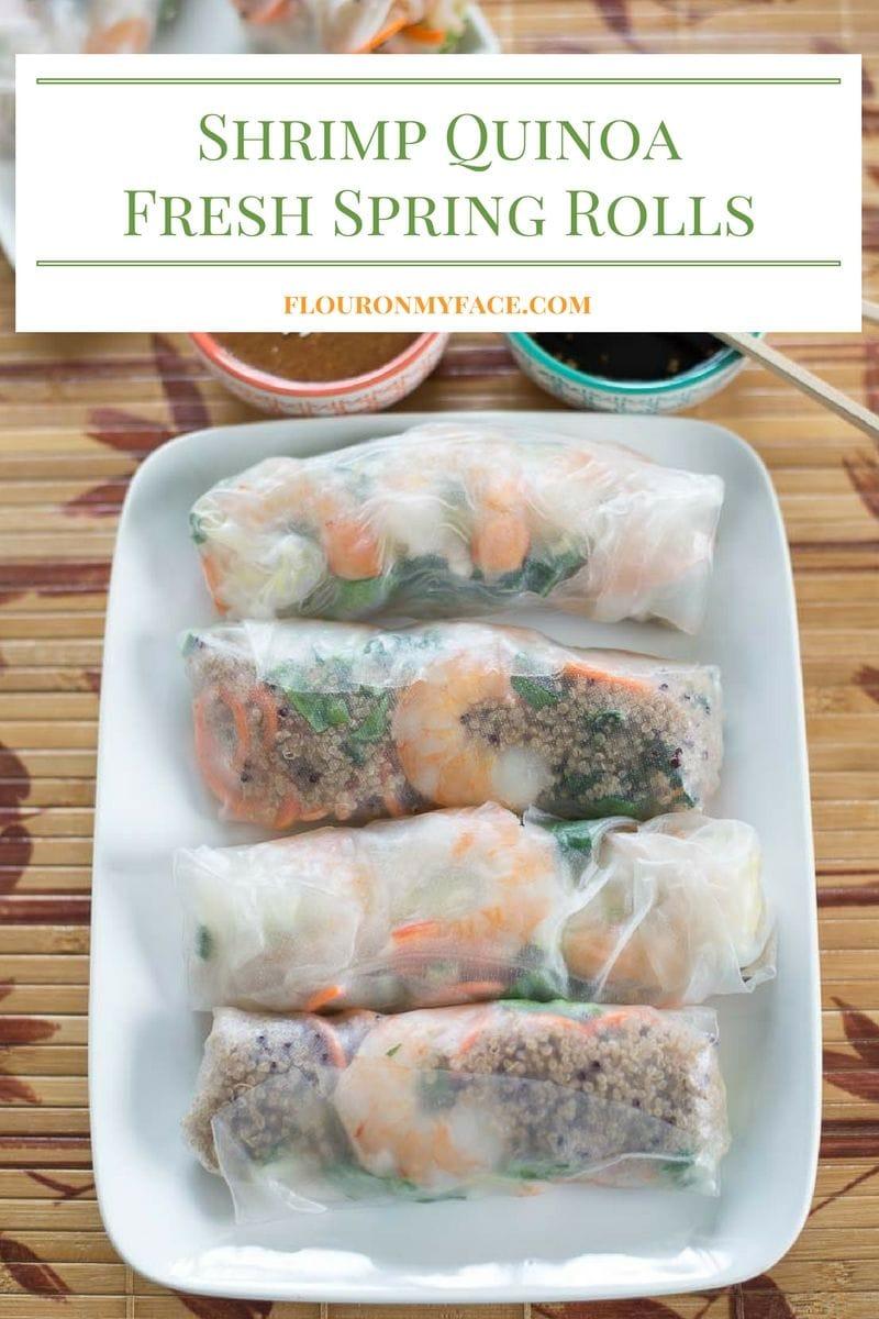 Shrimp Fresh Spring Roll recipe via flouronmyface.com