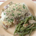 Crock Pot Creamy Chicken recipe via flouronmyface.com