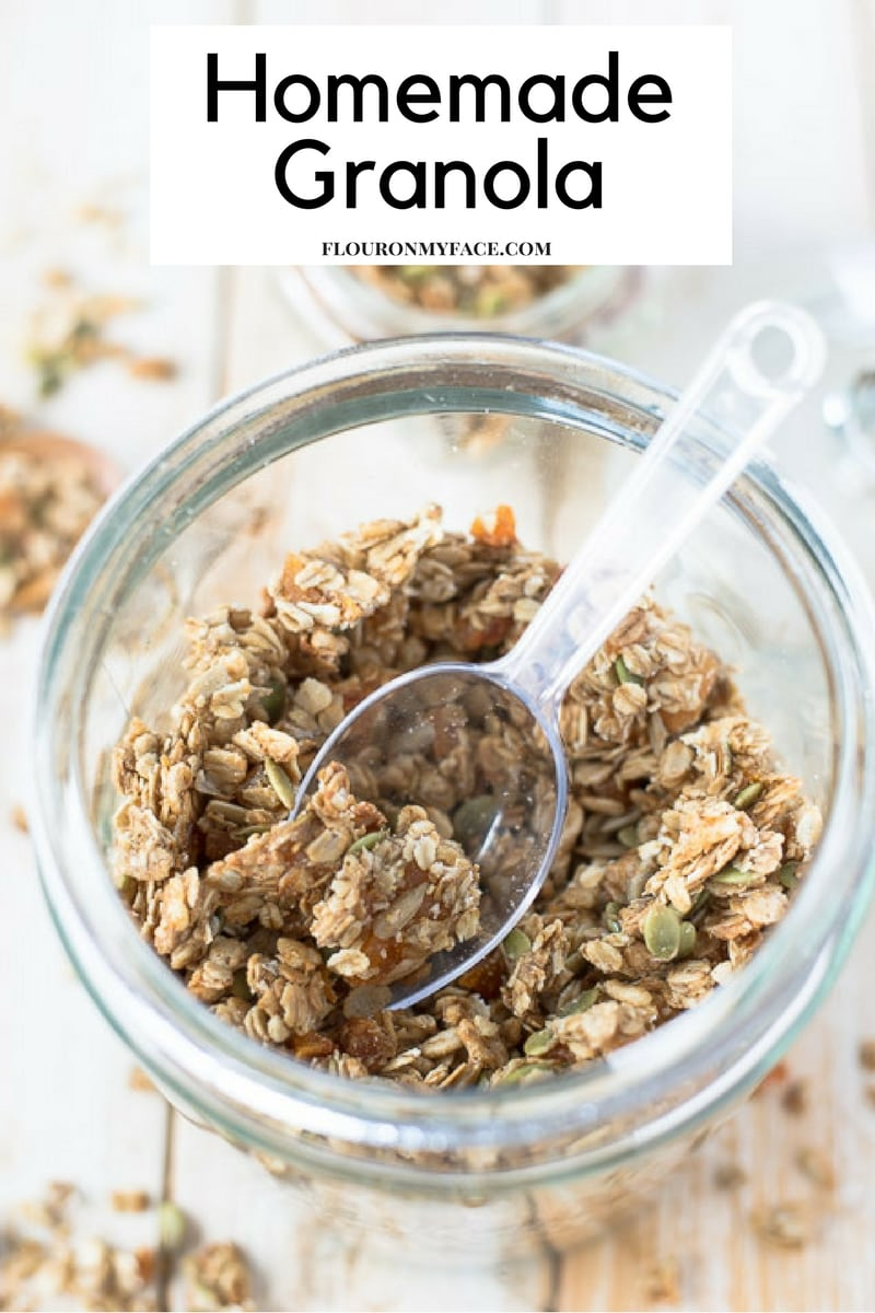 How To Make Dried Apricot Sunflower Granola recipe via flouronmyface.com