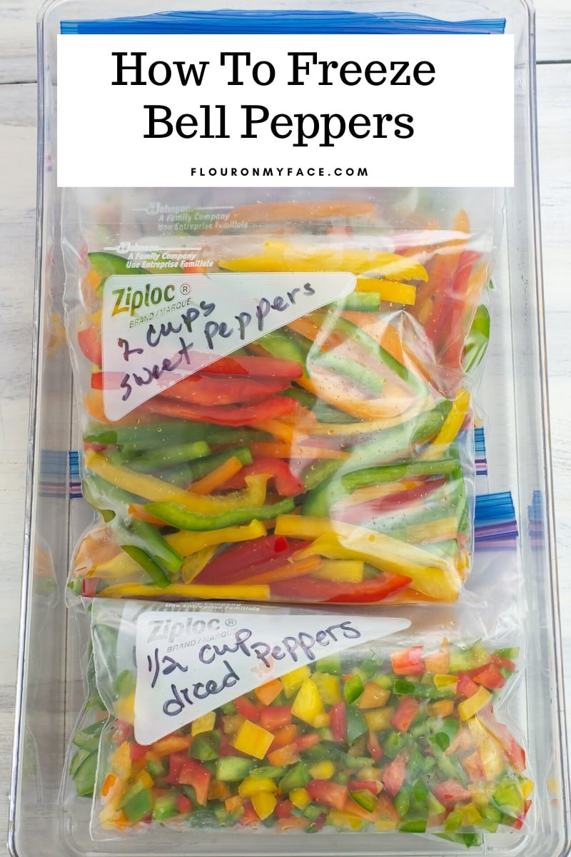 bell peppers in freezer bags to freeze