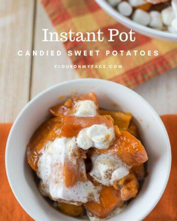 Instant Pot Candied Sweet Potatoes recipe via flouronmyface.com