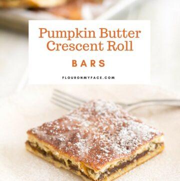 Pumpkin Butter Crescent Roll Bars recipe via flouronmyface.com