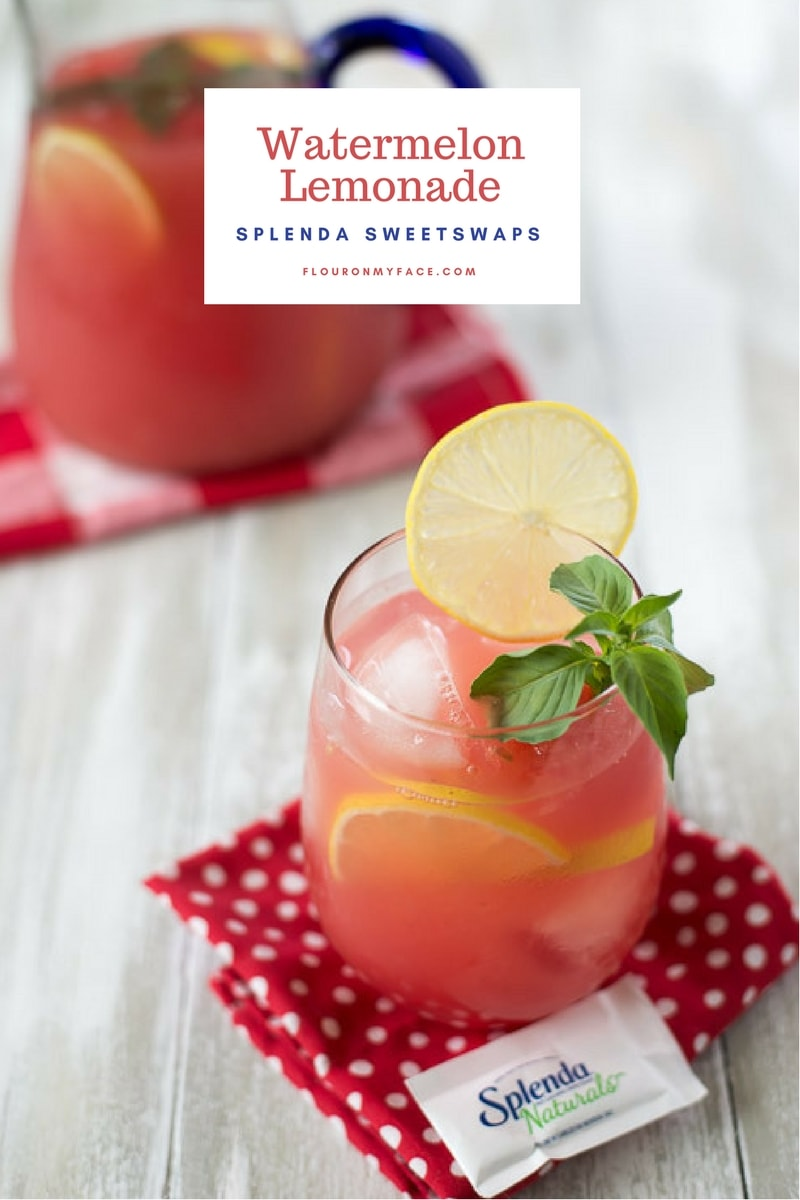 Watermelon Lemonade Recipe via flouronmyface,com #ad #SPLENDASWEETIES