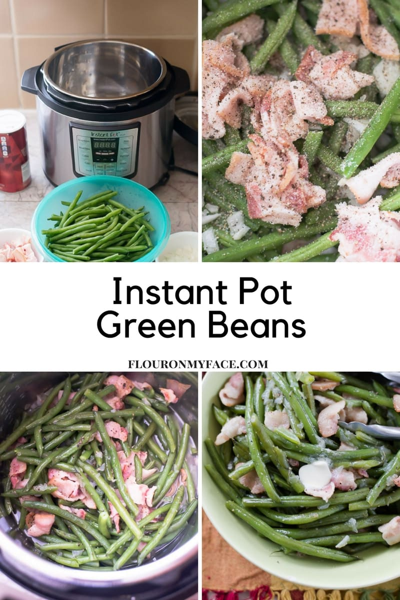 Easy Instant Pot Pressure Cooker Green Bean recipe via flouronmyface.com
