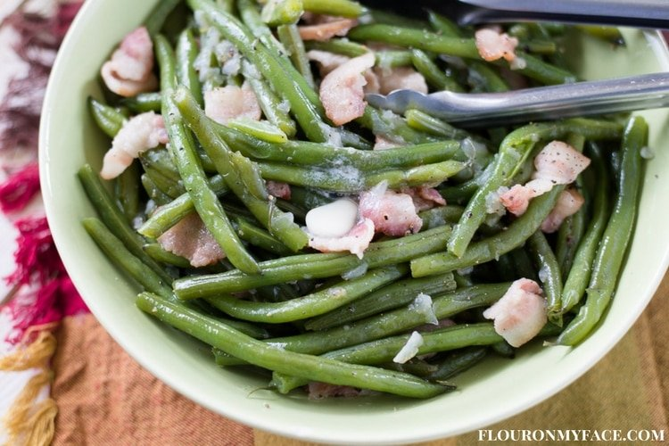Instant Pot Green Beans recipe will make your holiday meal planning so easy. Not only are these southern style green beans delicious but they only take 5 minutes to pressure cook.