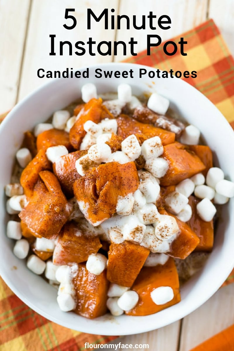 5 Minute Instant Pot Candied Sweet Potatoes Recipe