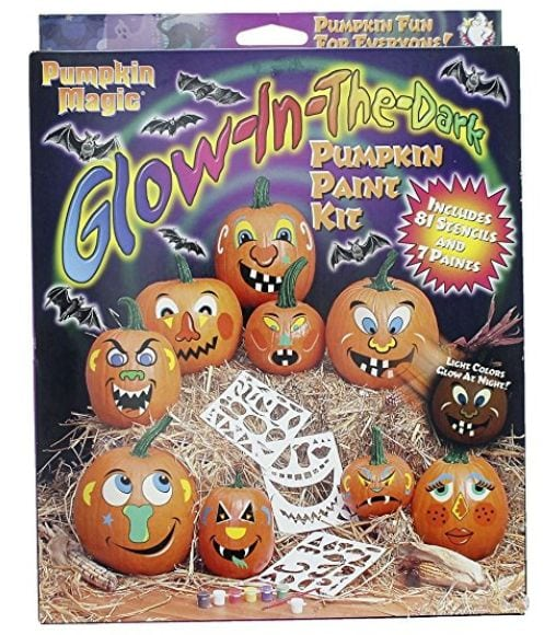 Pumpkin Magic Glow-in-the-dark Pumpkin Acrylic Paint Kit