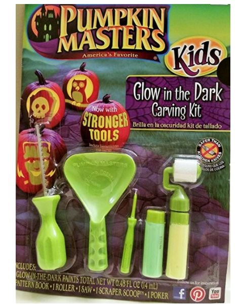 Pumpkin Masters America's Favorite Kids Glow in the Dark Carving Kit