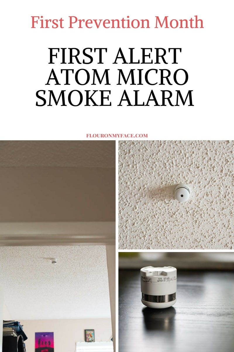 Newly installed First Alert Atom Photoelectric Micro Smoke Alarm
