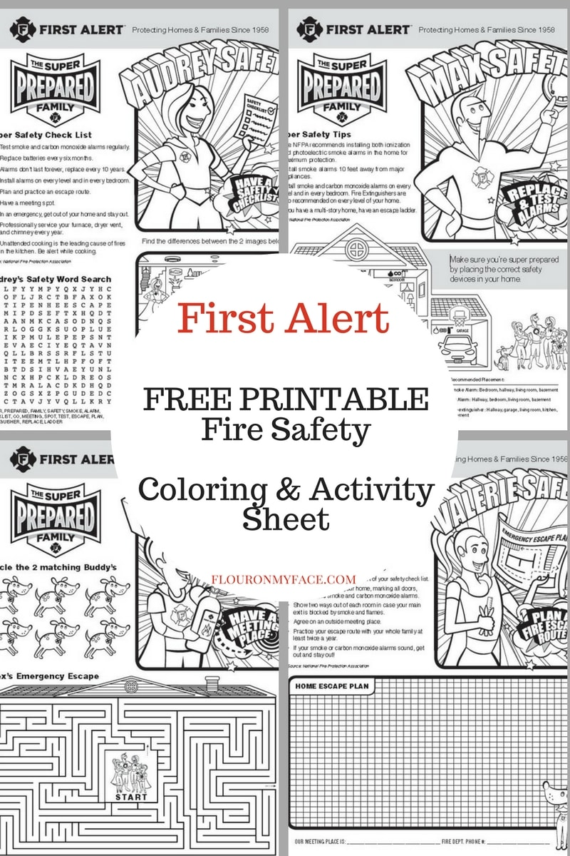 Free Printable Fire Safety Sheet preview