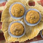#ad Moist Pumpkin Cranberry Muffins made with less sugar added #Splenda #SplendaSweetie #SplendaSweetSwaps