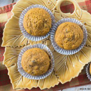 #ad Moist Pumpkin Cranberry Muffins made with less sugar added #Splenda #SplendaSweetie #SplendaSweetSwaps