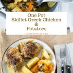 Skillet Greek Chicken Potatoes #LeaveBlandBehind