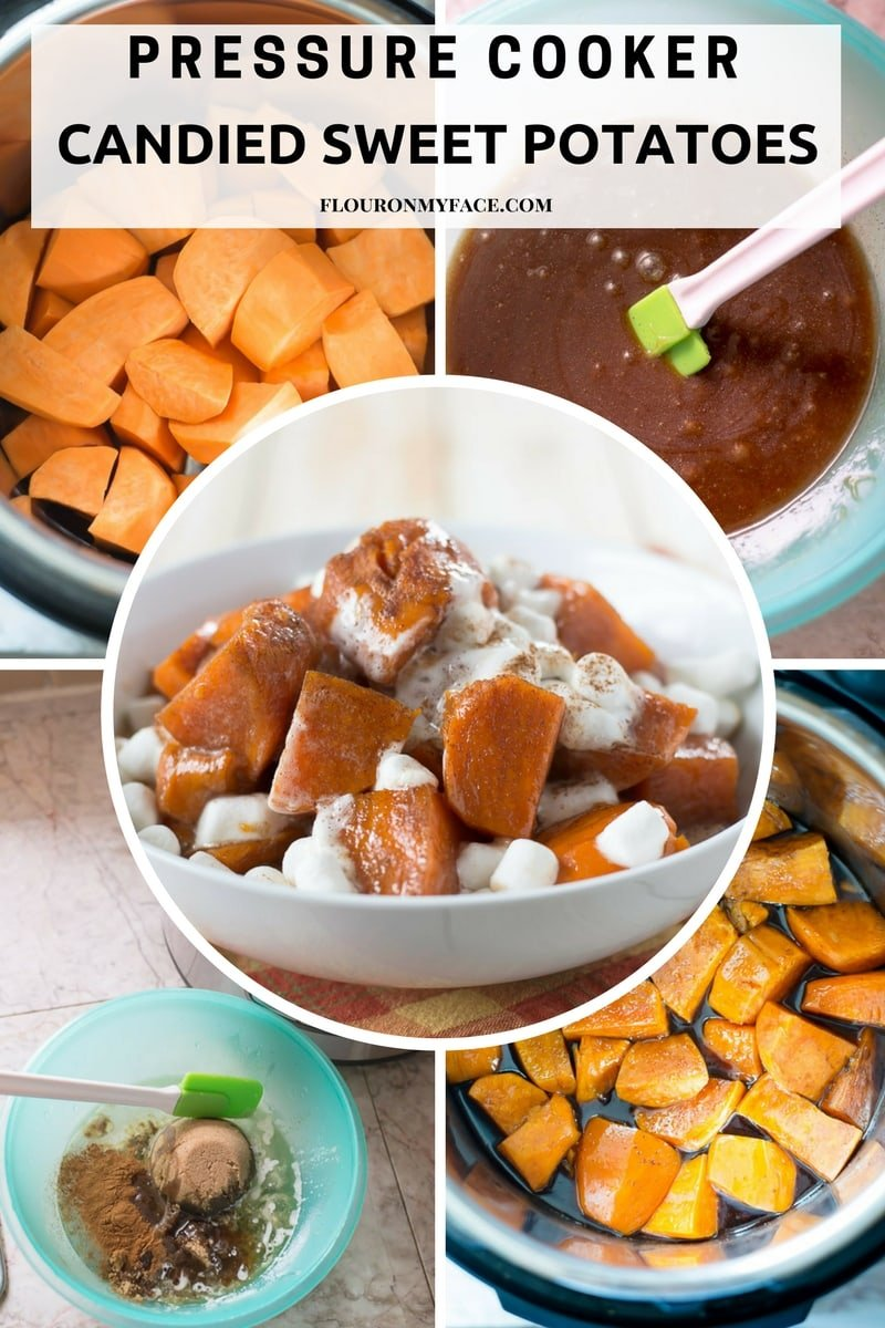 Instant Pressure Cooker Candied Sweet Potatoes recipe #instantpotrecipe
