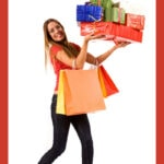 Image of woman with holiday packages.