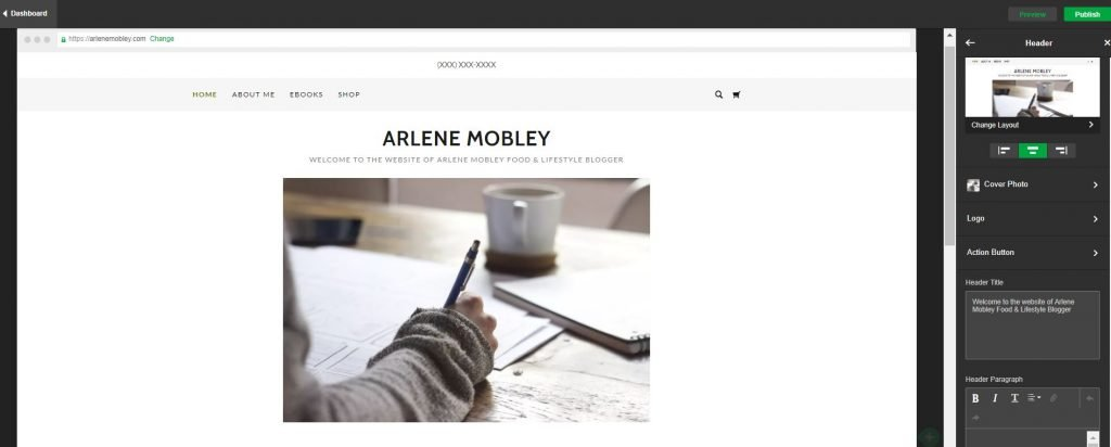 arelenemobley.com website preview photo