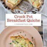 Fluffy Egg Crock Pot Breakfast Quiche Recipe