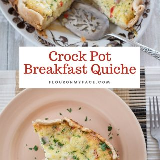 Crock Pot Breakfast Quiche recipe