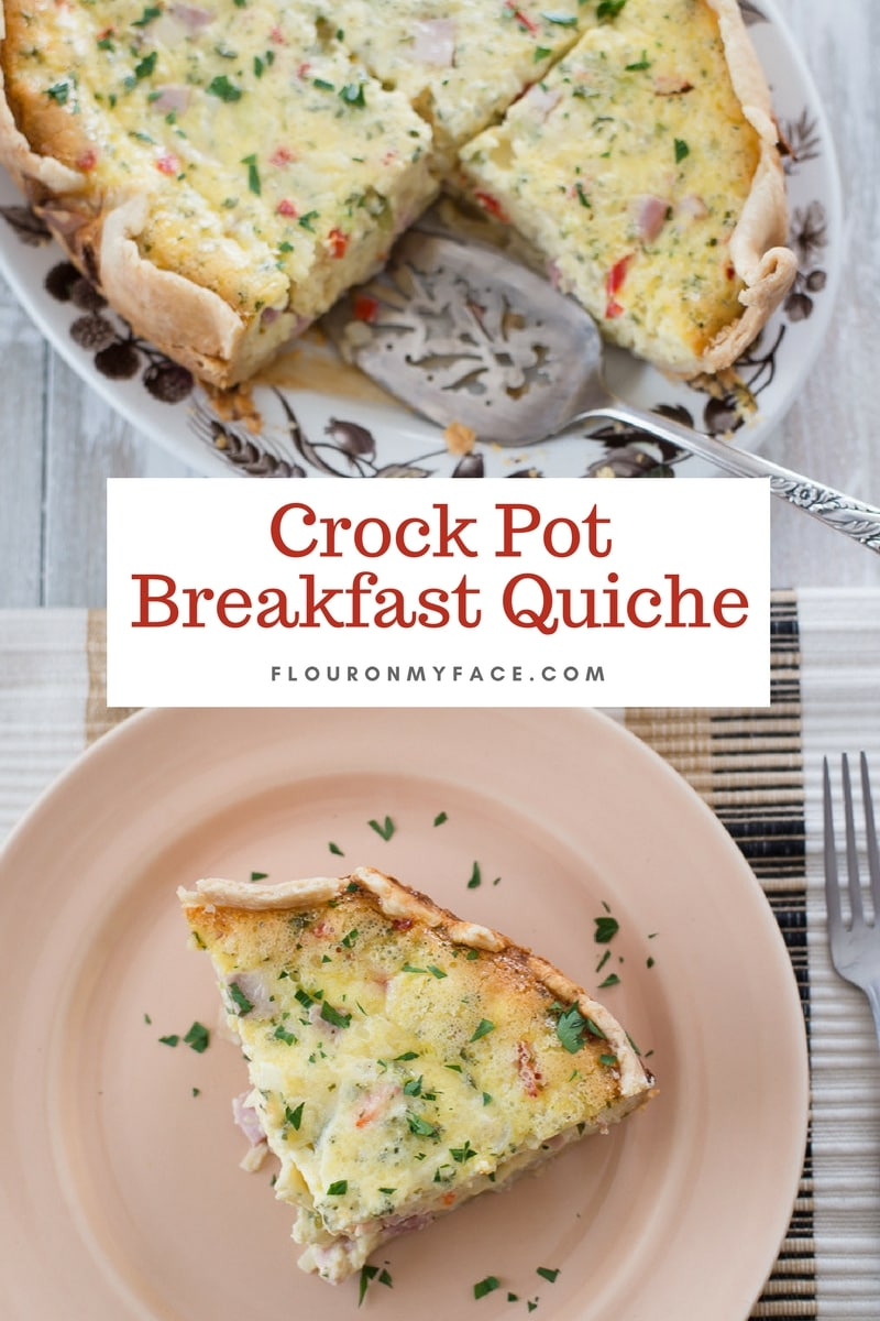 Fluffy Egg Crock Pot Breakfast Quiche Recipe