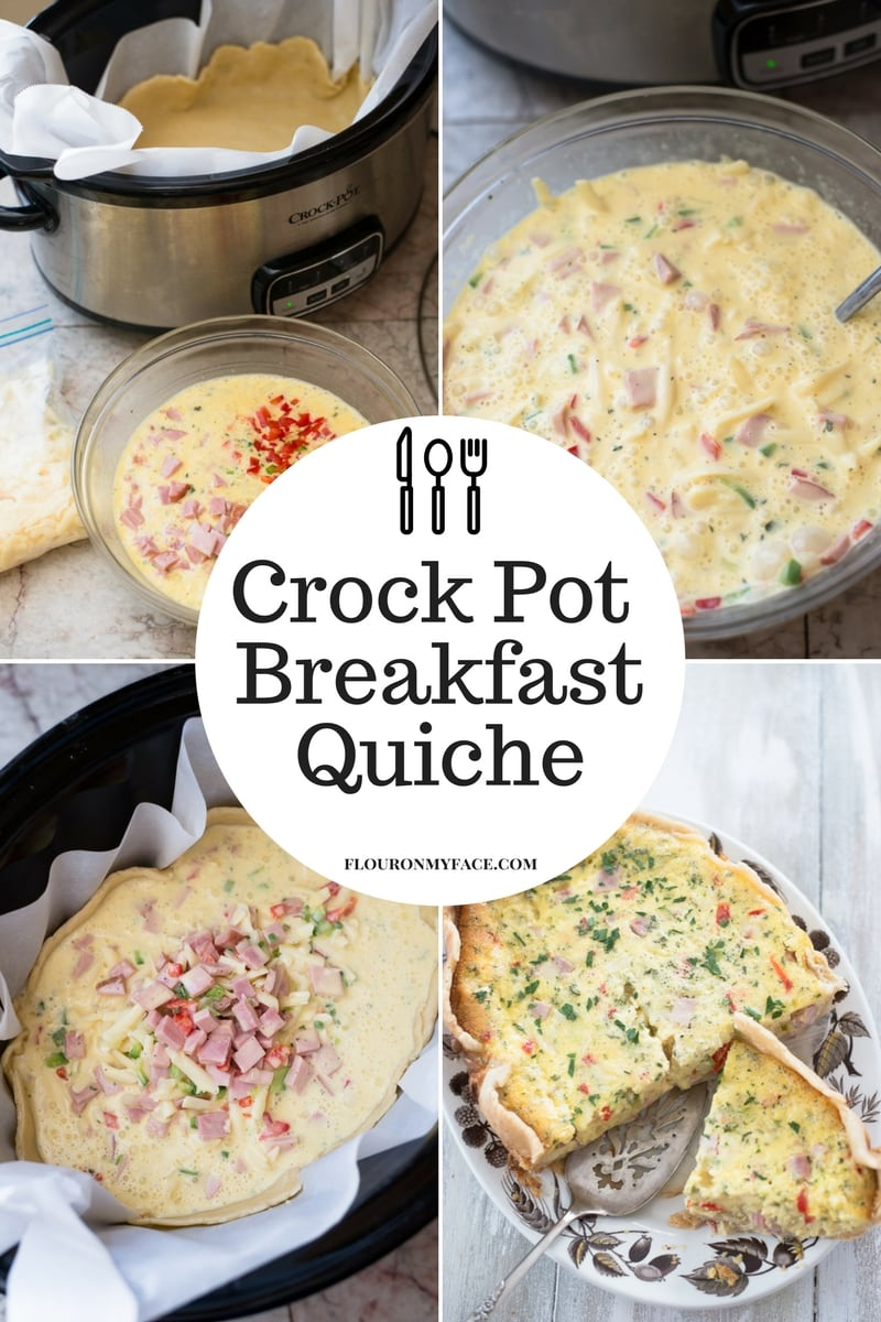 How To Make a Crock Pot Breakfast Quiche that turns out moist and delicious with eggs cooked perfectly.
