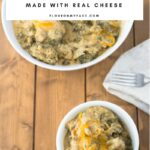 Cheesy Crock Pot Broccoli Casserole recipe made with fresh broccoli and real cheddar cheese.