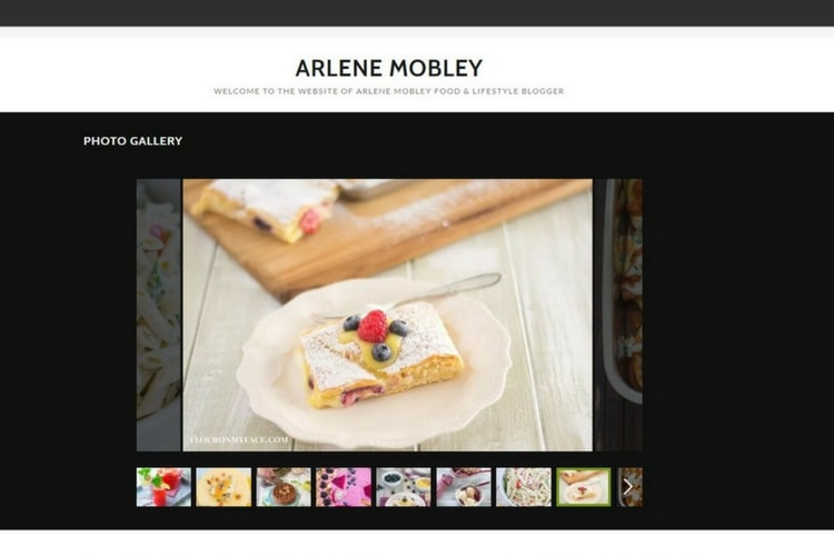 Easy Food Photography Photo Gallery with GoDaddy GoCentral website builder