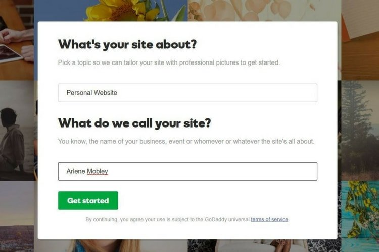 How to create your personal brand flour on my face easy website builder templates with gocentral website editor pronofoot35fo Image collections