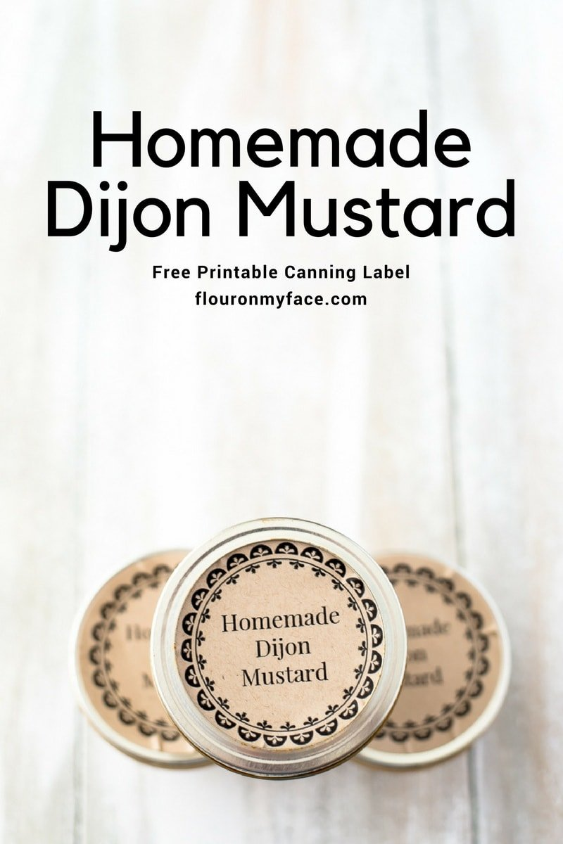 Free Printable Homemade Dijon Mustard Canning Label