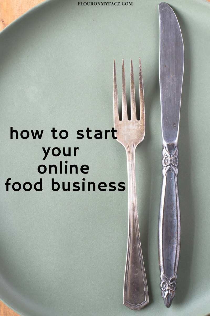 how to start your online food business flour on my face
