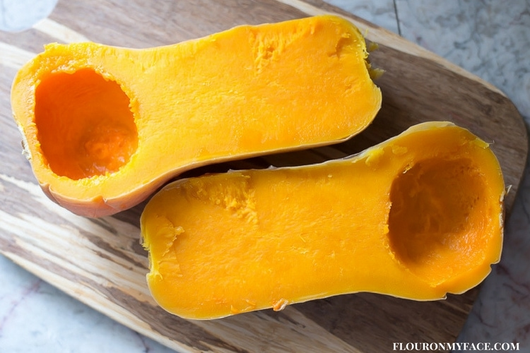 Instant Pot Butternut Squase that is firm and can be cubed to use in your favorite butternut squash recipes.