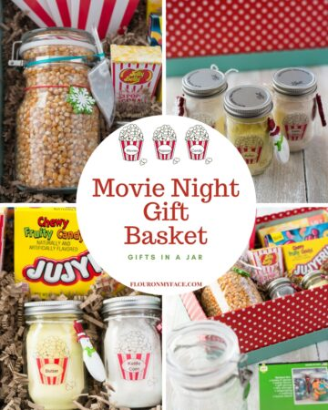 Movie Night Gift Basket Gifts in a Jar Ideas