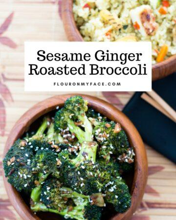 Sesame Ginger Roasted Broccoli