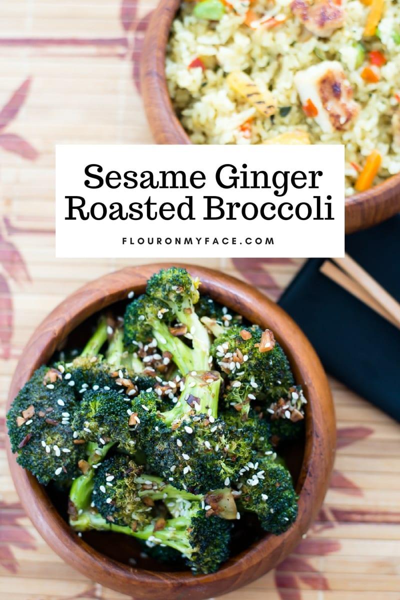 Sesame Ginger Roasted Broccoli #LingLingFriedRice #IC Giveaway