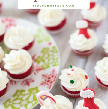 Easy holiday dessert recipe Suagr Cookie Cupcake Bites. The best of both worlds made with Pillsbury™ cookie dough.