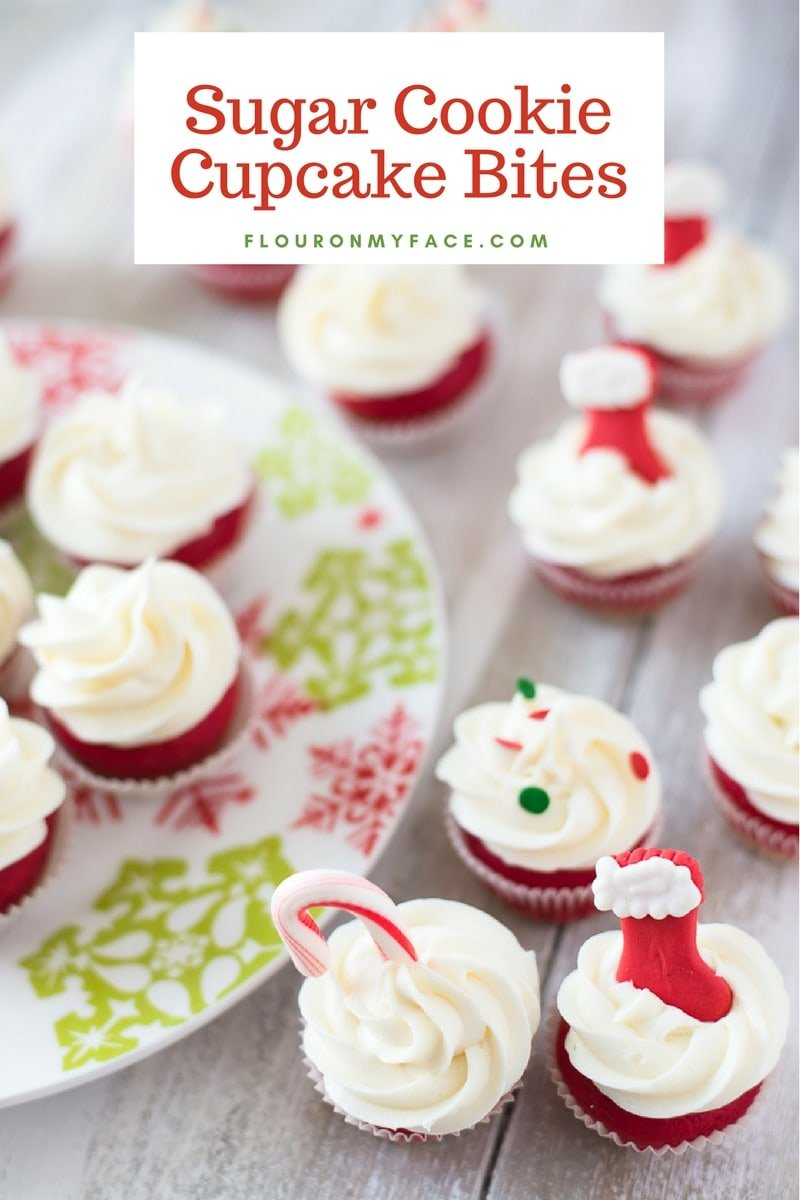 Easy holiday dessert recipe Sugar Cookie Cupcake Bites. The best of both worlds made with Pillsbury™ cookie dough.