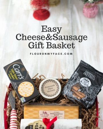 How To Make a Cheese and Sausage Gift Basket: Easy DIY Christmas Gift Ideas
