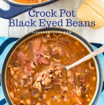 Crock Pot Black Eyed Beans recipe