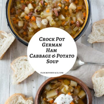 Crock Pot Ham Cabbage Potato Soup recipe just like my German Grandmother made