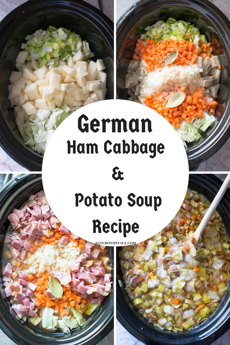 German Ham, Cabbage, Potato and Fennel slow cooker recipe