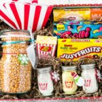 Movie Night Gift Box ideas for Gifts in a Jar that are family friends and an easy Secret Santa Gift anyone cane easily make.