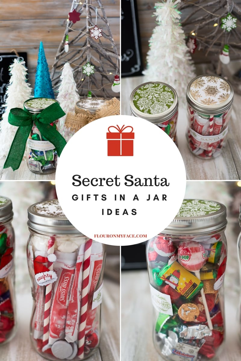 Easy and fun Secret Santa Gifts in a Jar you can make and gift with Ball mason canning jars.