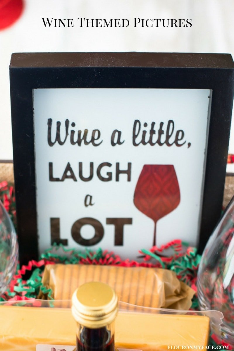 Wine themed wall hanging or picture for your Wine Gift Basket focal point