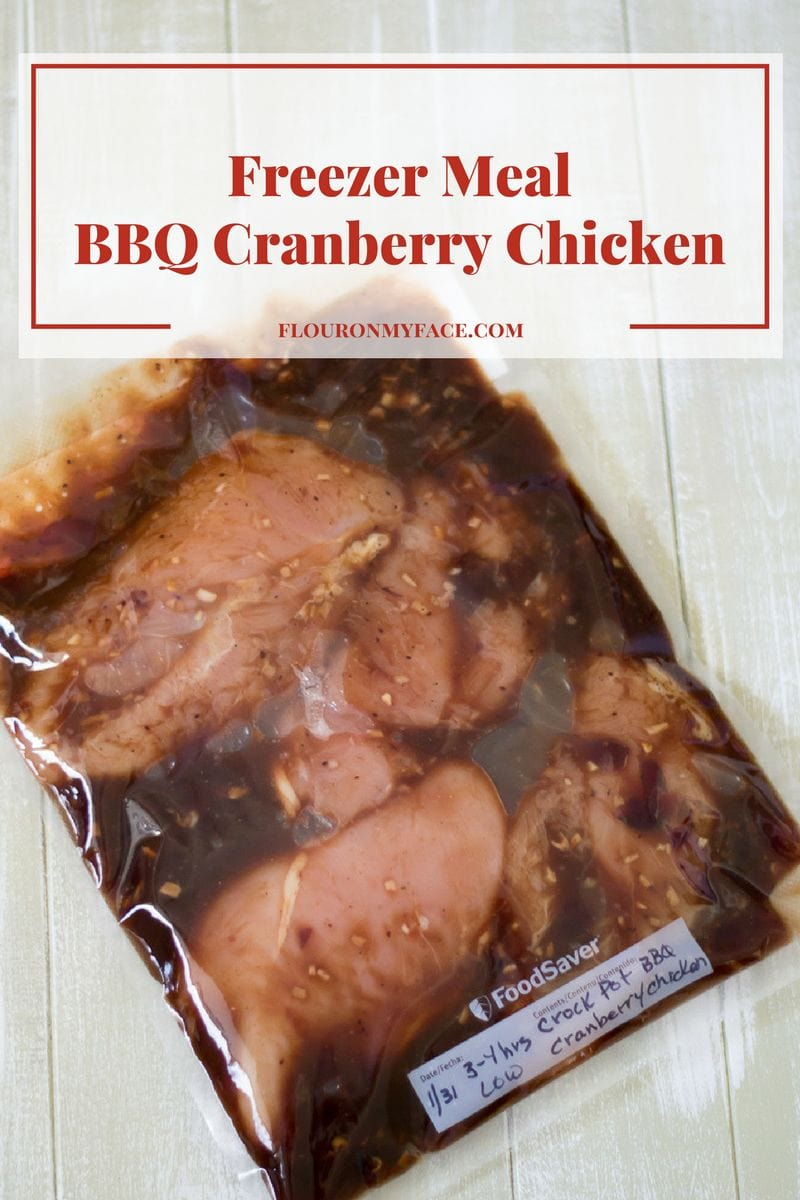 Directions to make freezer meal bbq cranberry chicken recipe