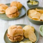 Crock Pot Cheesy Salsa Sloppy Joes