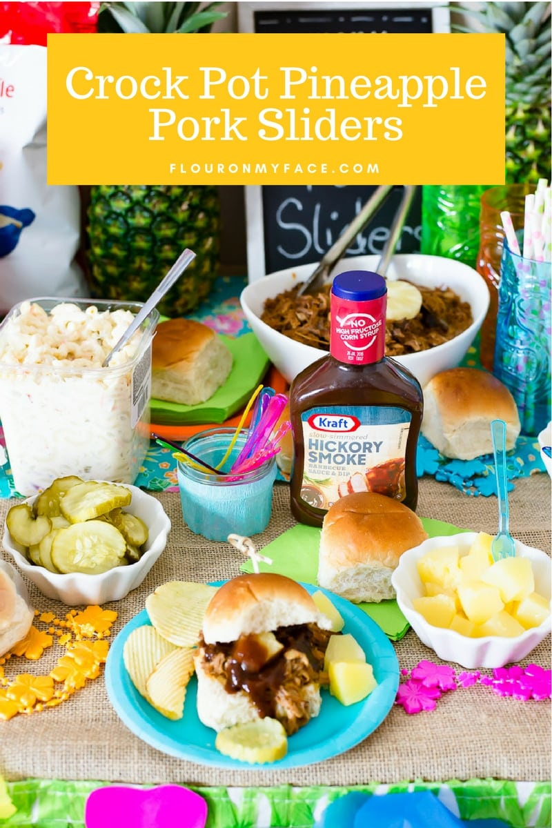 Slow Cooker Pineapple Pulled Pork Sliders #YourRecipeforHappiness