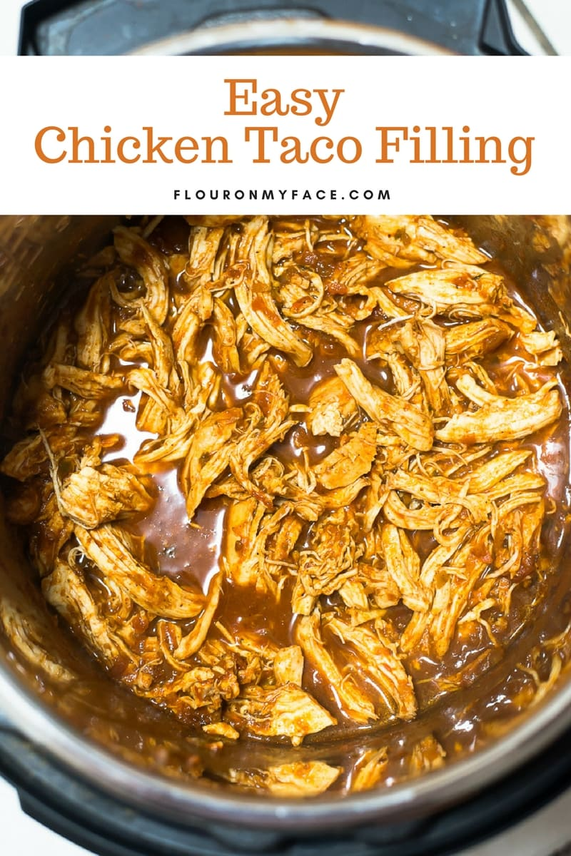Instant Pot Chicken Taco filling in the Instant Pot