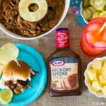 Easy Pineapple Pulled Pork Slider recipe made with Kraft BBQ sauce