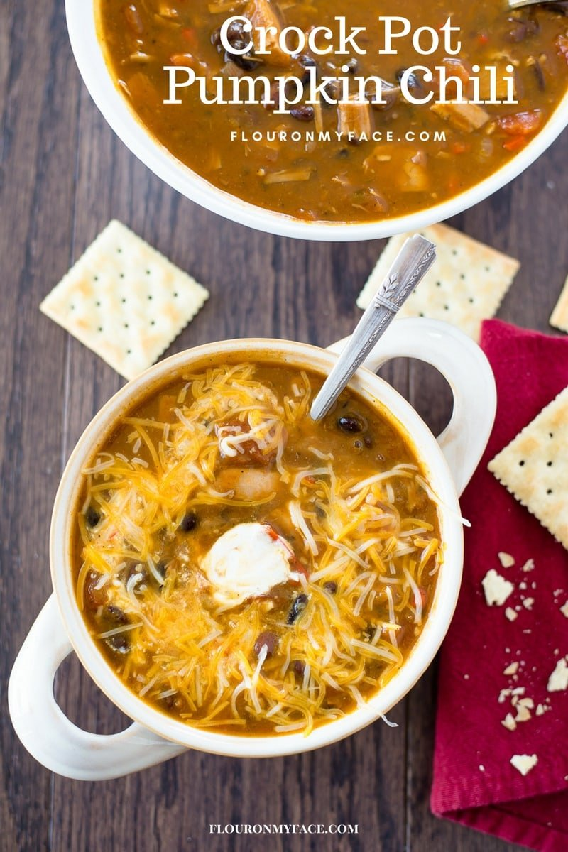 Crock Pot Pumpkin Black Bean Chili recipe