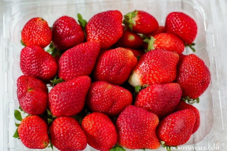 Fresh Florida Strawberries in clam shell package